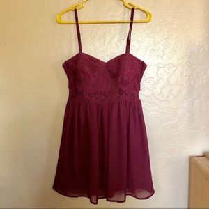 Material girl Maroon Dress